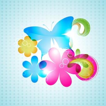 Diseño colorido de fondo de mariposa