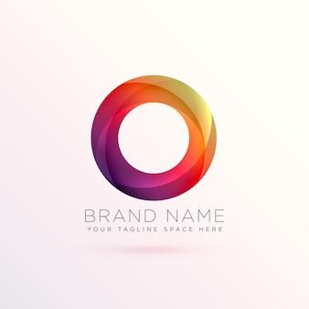 Diseño colorido de logotipo circular