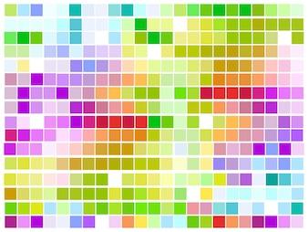 Diseño colorido de patrón de mosaico