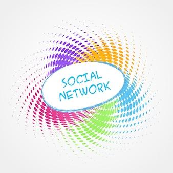 Diseño colorido de redes sociales