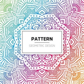 Diseño colorido geométrico de mandala