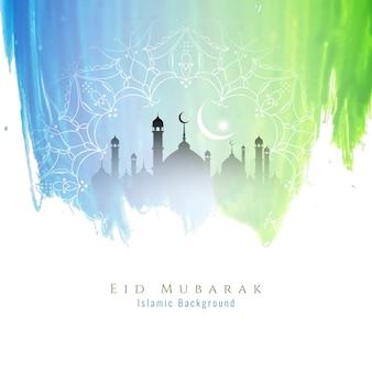 Diseño colorido religioso de eid mubarak