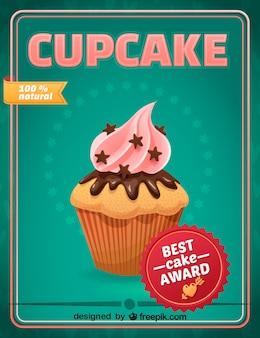 Diseño cupcake en formato vectorial