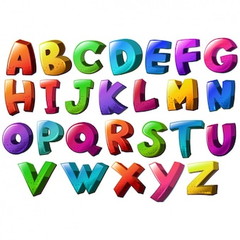 Diseño de abecedario a color