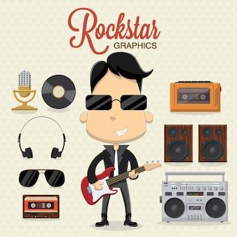 Diseño de accesorios de estrella del rock