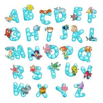 Diseño de alfabeto a color