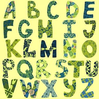 Diseño de alfabeto floral