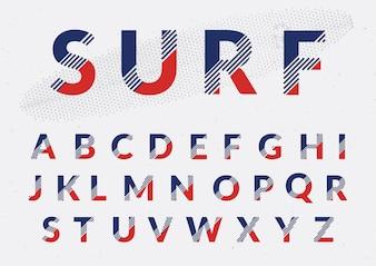 Diseño de alphabeto a color
