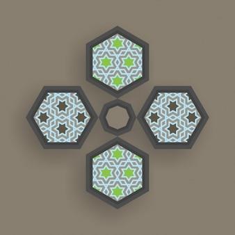 Diseño de arte islámico