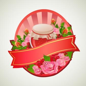 Diseño de badge colorido
