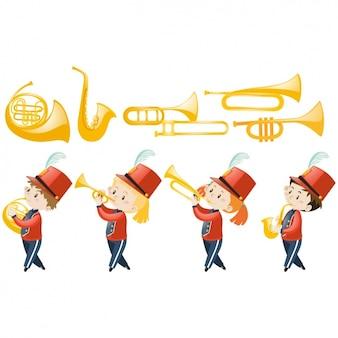 Diseño de banda de música de niños