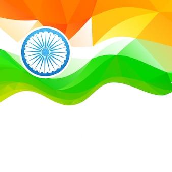 Diseño de bandera para el día de la independencia de la india