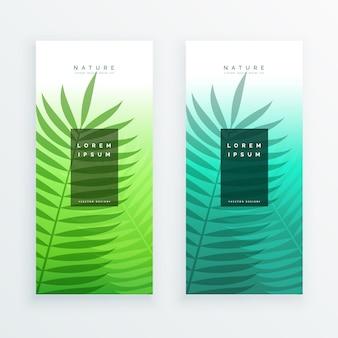 Diseño de banners de naturaleza