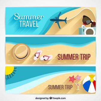 Diseño de banners de vacaciones de verano