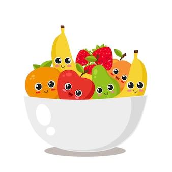 Diseño de bol de frutas