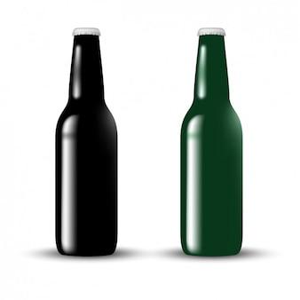 Diseño de botella de cristal
