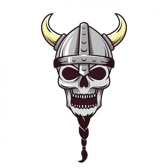 Diseño de calavera de vikingo