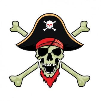 Diseño de calavera pirata