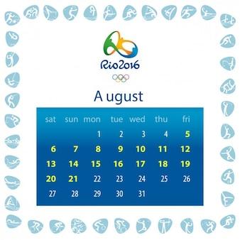 Diseño de calendario de rio 2016