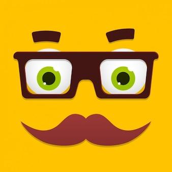 Diseño de cara divertida de dibujos