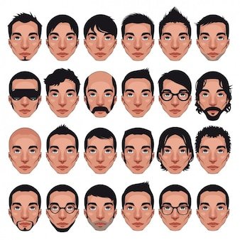 Diseño de caras de hombre