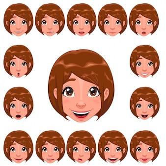 Diseño de caras de mujer