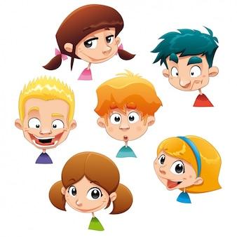 Diseño de caras de niños