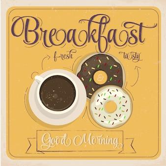 Diseño de cartel de desayuno