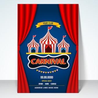 Diseño de cartel de fiesta de carnaval