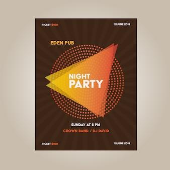 Diseño de cartel de fiesta