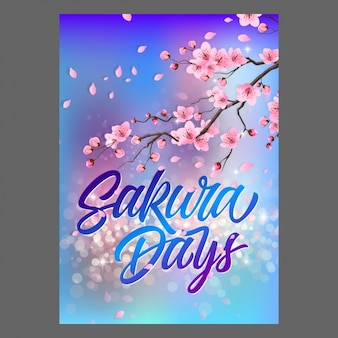 Diseño de cartel de sakura
