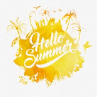 Diseño de cartel de verano