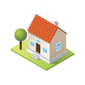 Diseño de casa a color