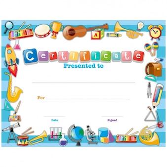 Diseño de certificado infantil