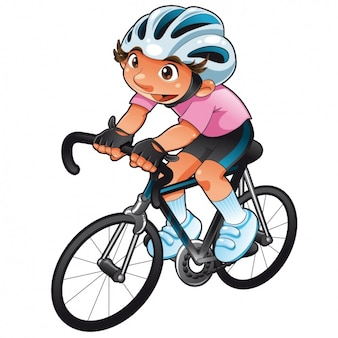 Diseño de chico practicando ciclismo