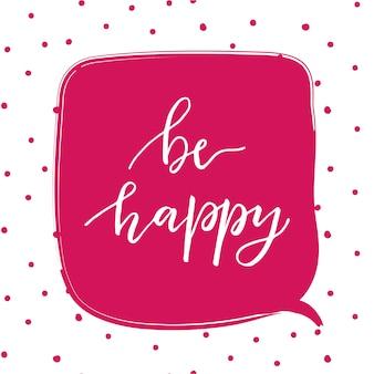 Diseño de cita de ser feliz