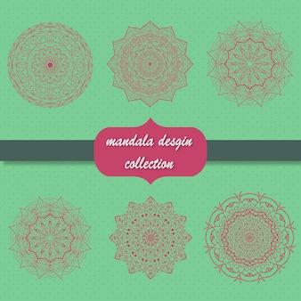 Diseño de colección de mandala