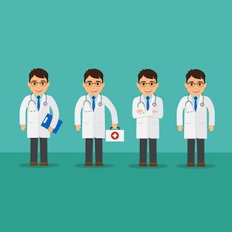 Diseño de colección de médicos