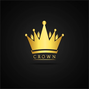 Diseño de corona dorada