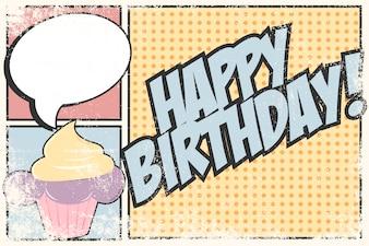 Diseño de cumpleaños vintage