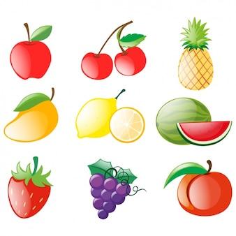 Diseño de de frutas a color