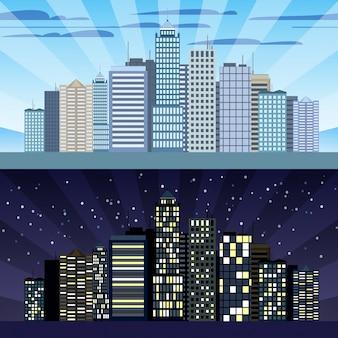Dia y noche fotos y vectores gratis for Diseno de edificios