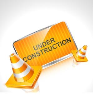 Diseño de en construcción para página web