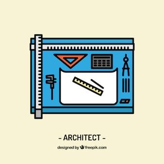 Diseño de espacio de trabajo de arquitecto