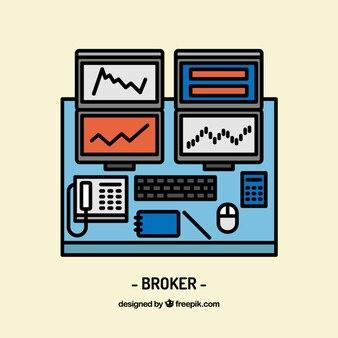 Diseño de espacio de trabajo de broker