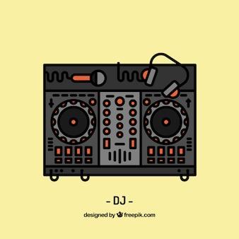 Diseño de espacio de trabajo de deejay