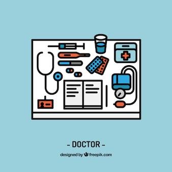 Diseño de espacio de trabajo de doctor