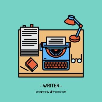 Diseño de espacio de trabajo de escritor