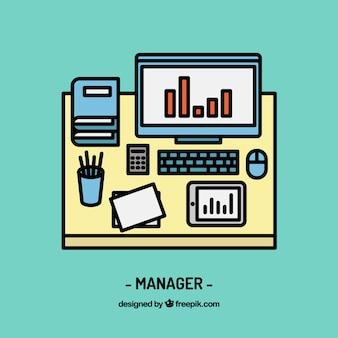 Diseño de espacio de trabajo de manager