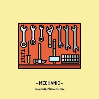 Diseño de espacio de trabajo de mecánico